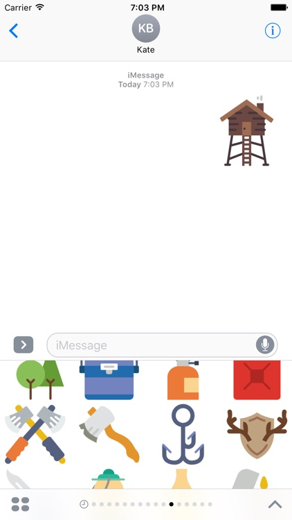 Outdoors Stickers - for Messages screenshot-3