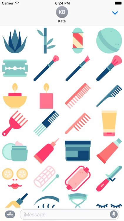 Makeup Stickers - Glamour and Beauty Emoji screenshot-3