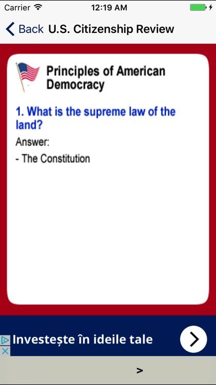 U.S. Citizenship Exam Review