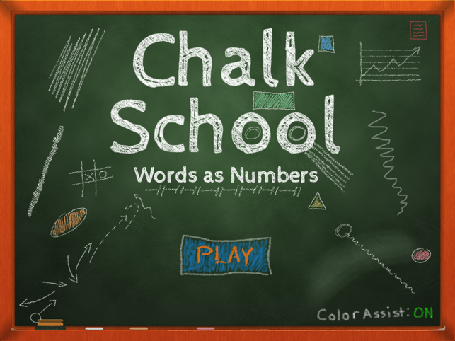 Chalk School: Words as Numbers Screenshot