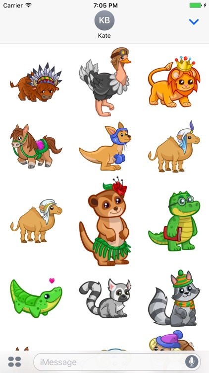 Cute Baby Animal Stickers for iMessage