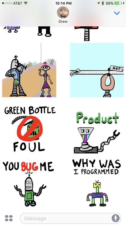 JohnnyBot Hipster Robots - Animated Stickers screenshot-3