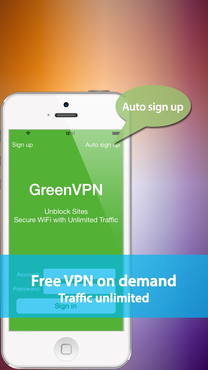 GreenVPN - Free & fast VPN with unlimited traffic Screenshot