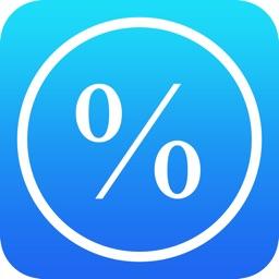 Percentage Calculator - % , Discounts, Sales