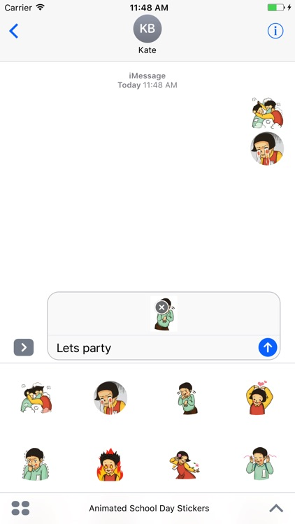 Animated School Day Stickers For iMessage screenshot-1