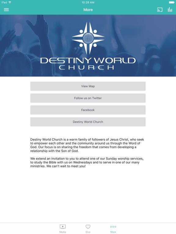 Destiny World Church screenshot 6