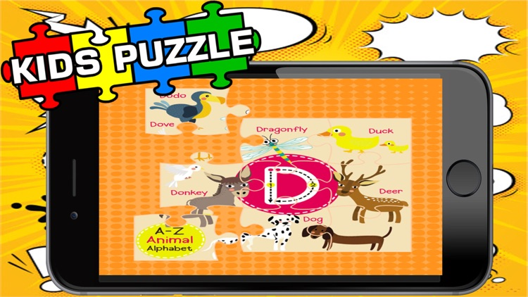 ABC ZOO Alphabet Jigsaw Puzzle Kids Games Learning screenshot-3