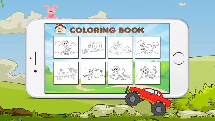 The Coloring Book of a car and animals for kids screenshot-3