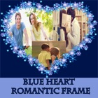 Blue Heart  Romantic Photo Frame icon