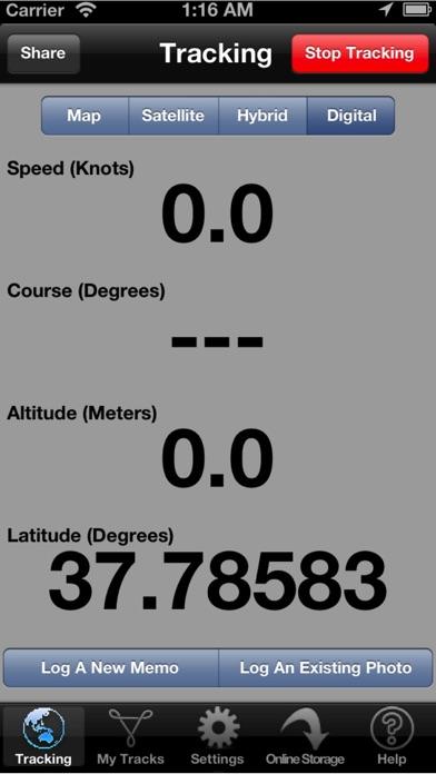 Sailboat GPS Tracker and Data Logger screenshot two