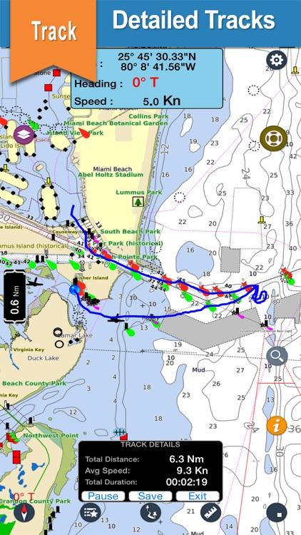 Mediterranean SE boating nautical offline charts