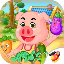 小猪佩奇保卫蔬菜—宝宝火爆水果冒险岛