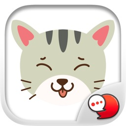 Smiley Cat Feeling Ver.2 Sticker By ChatStick
