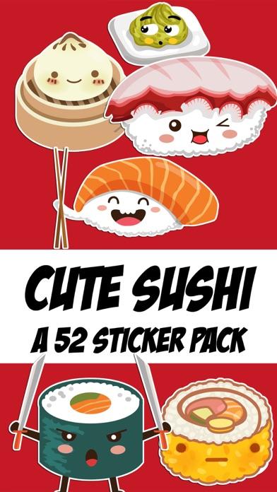Cute Sushi Kawaii Sticker Pack