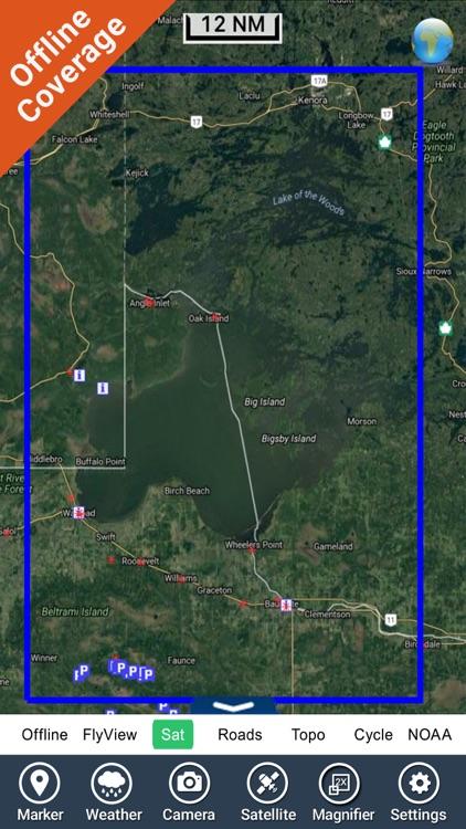 Boating Lake of the Woods GPS map Fishing chart screenshot-4