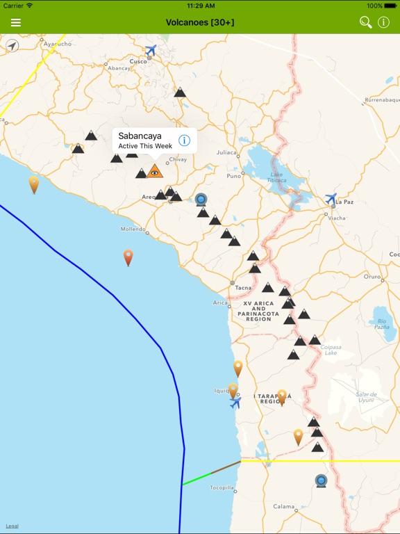 Volcanoes: Map, Alerts & Ash-ipad-0