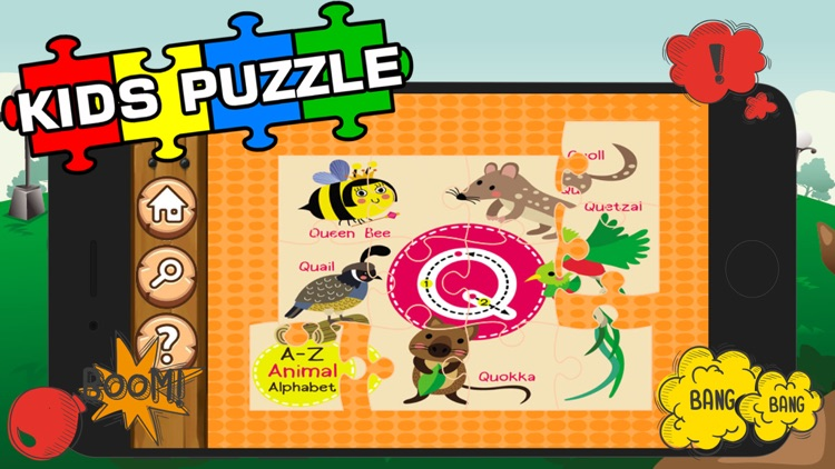 Alphabet Jigsaw Games Kids & Toddlers Free Puzzle screenshot-3