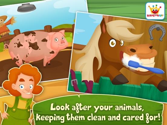 App voor peuters & Dieren Spelletjes: Dirty Farm iPad app afbeelding 3