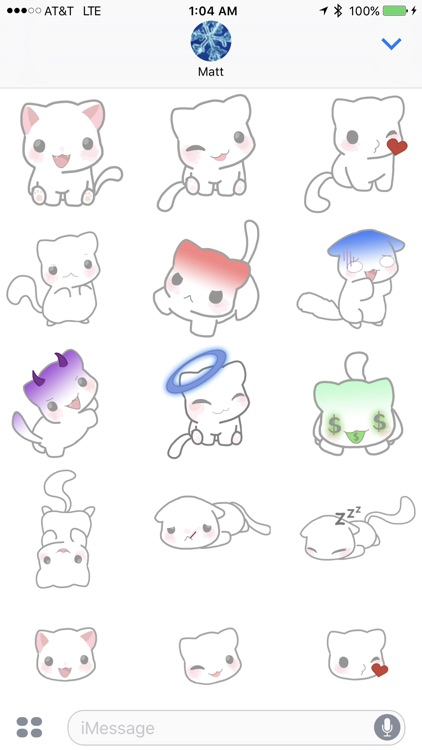 Silly Kitty Stickers