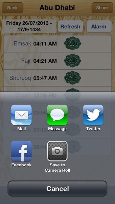 Screenshot for UAE Prayer Timings in United Arab Emirates App Store