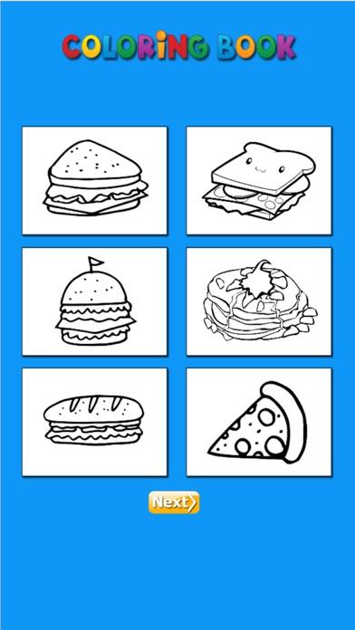 Hello Food - Malbuch für mich & KinderScreenshot von 4