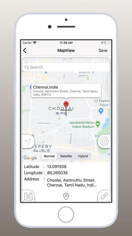 Save GPS Location