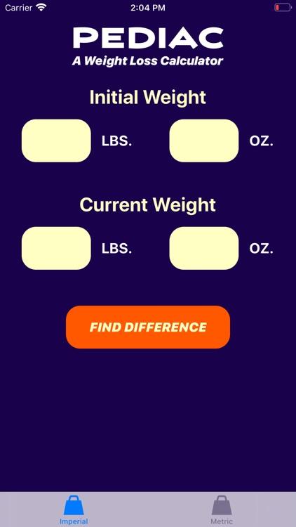 Pediac Weight Calculator