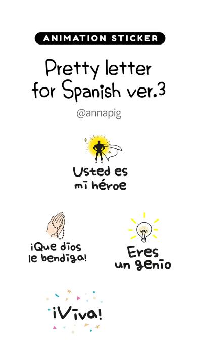 Pretty letter for Spanish ver3 screenshot 1