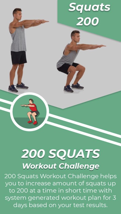 200 Squats Challenge screenshot 1