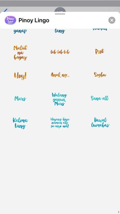 Pinoy Lingo for iMessage screenshot-5