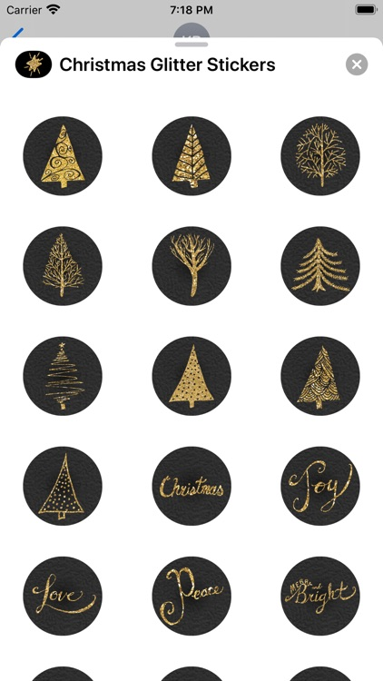 Christmas Glitter Stickers