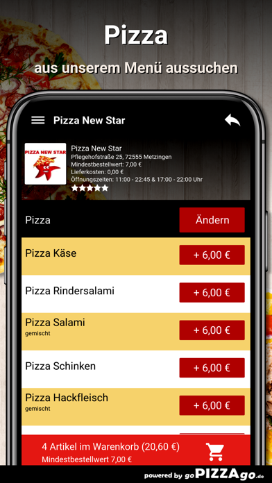 Pizza New Star Metzingen screenshot 5