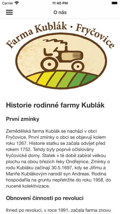 Farma Kublák Fryčovice screenshot 1