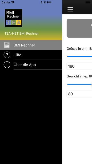 TEA-NET BMI RechnerScreenshot von 2
