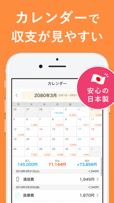 シンプル家計簿 - 人気おこづかい帳の家計簿(かけいぼ)スクリーンショット