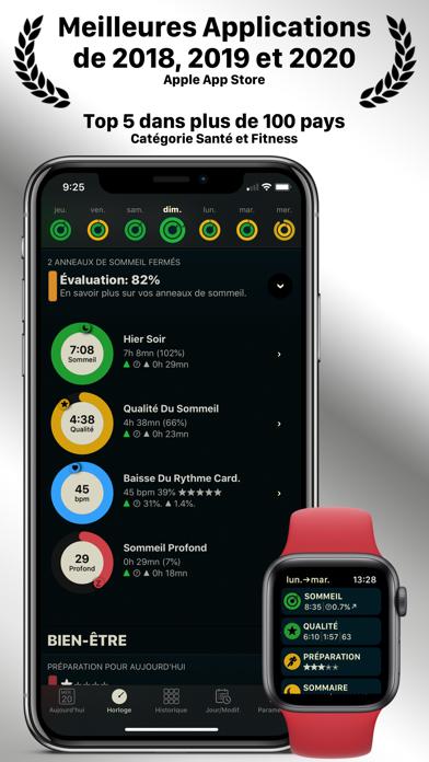 AutoSleep. Tracker de sommeil iphone captures décran