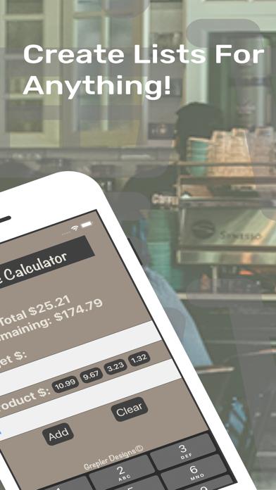 ShopEeZe: Shopping List Calc screenshot 3