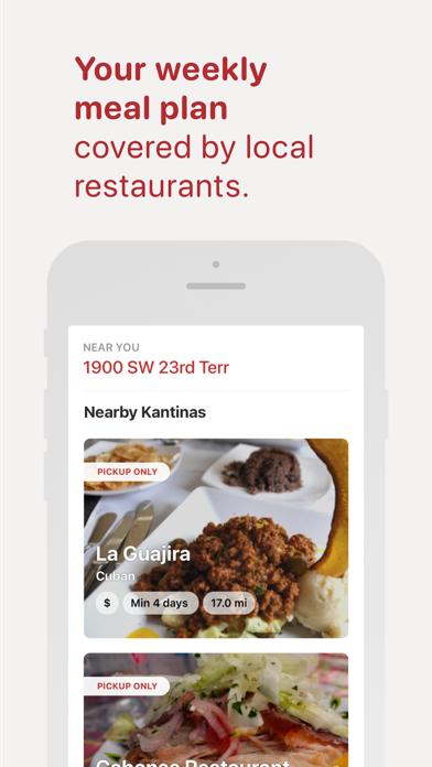 Kantina: Meal Plan OrderScreenshot of 2