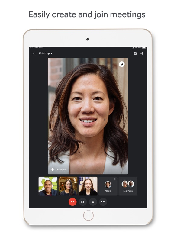 iPad Image of Google Meet