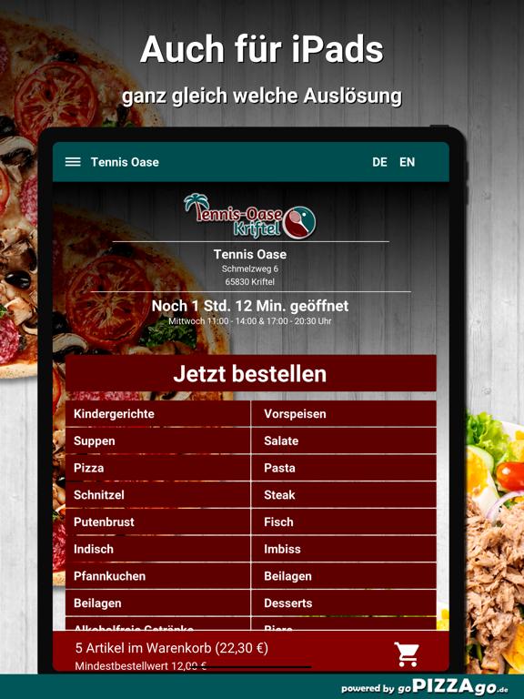 Tennis Oase Kriftel Pizza screenshot 7