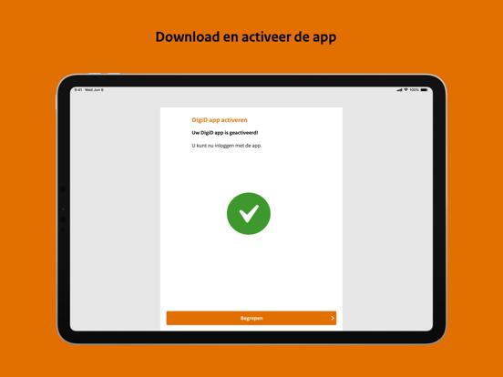 DigiD iPad app afbeelding 2