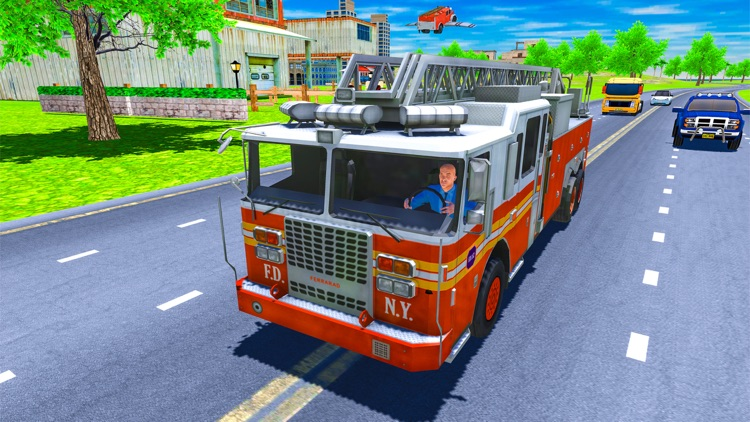 Real Flying Fire Truck Robot