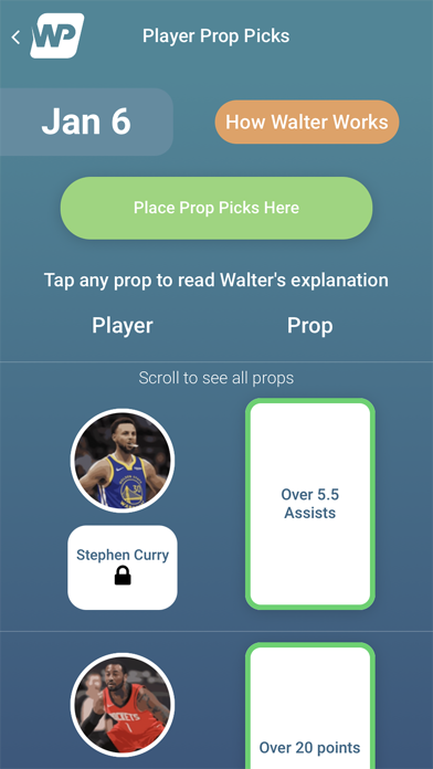 WalterPicks Screenshot