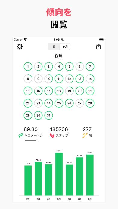 万歩計 ウォーキング 歩数計 アプリ doStepsのおすすめ画像4