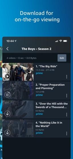 Amazon Prime Video app screenshot