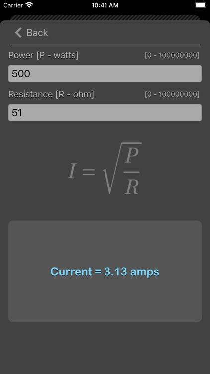 Ohm Law Calculator screenshot-9
