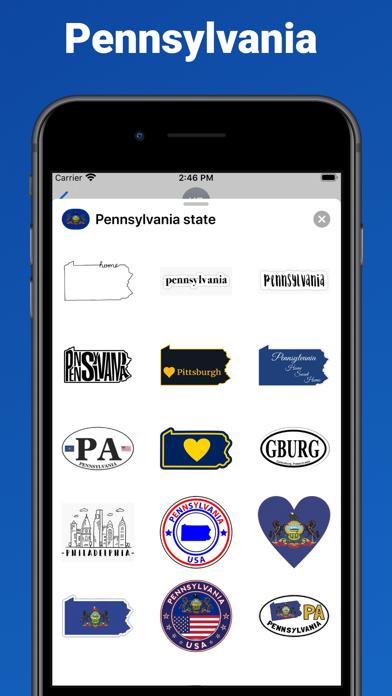 Pennsylvania state - USA emoji screenshot 1