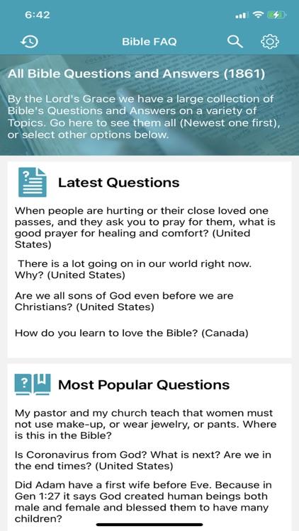 Bible Questions & Answers -FAQ screenshot-6