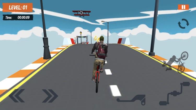 BMX Mega Ramps Stunt Race Game screenshot-3