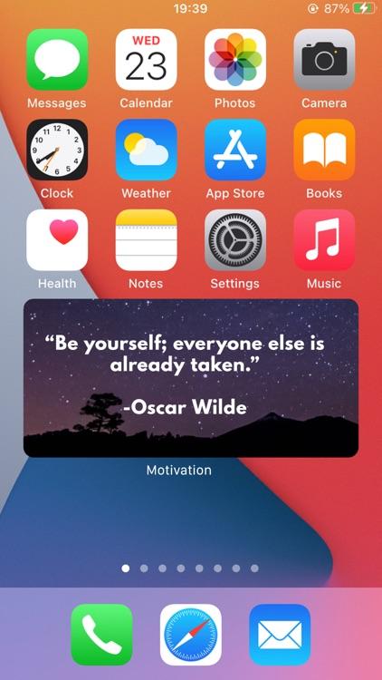 Motivation, Daily Quote Widget screenshot-0